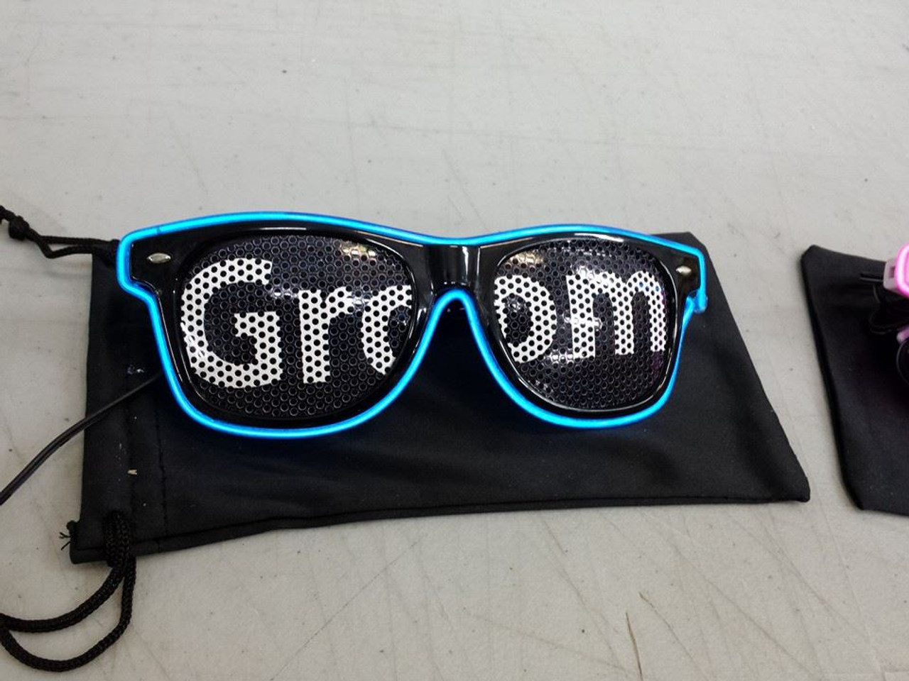 LED, GLOW, NEON, Groom, Wedding, Shades, sun glasses