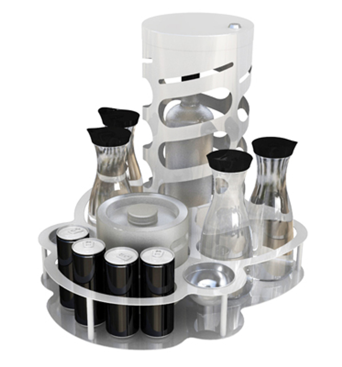 VIP, Champagne, Bottle, Service, Tray, Cage, Lock,