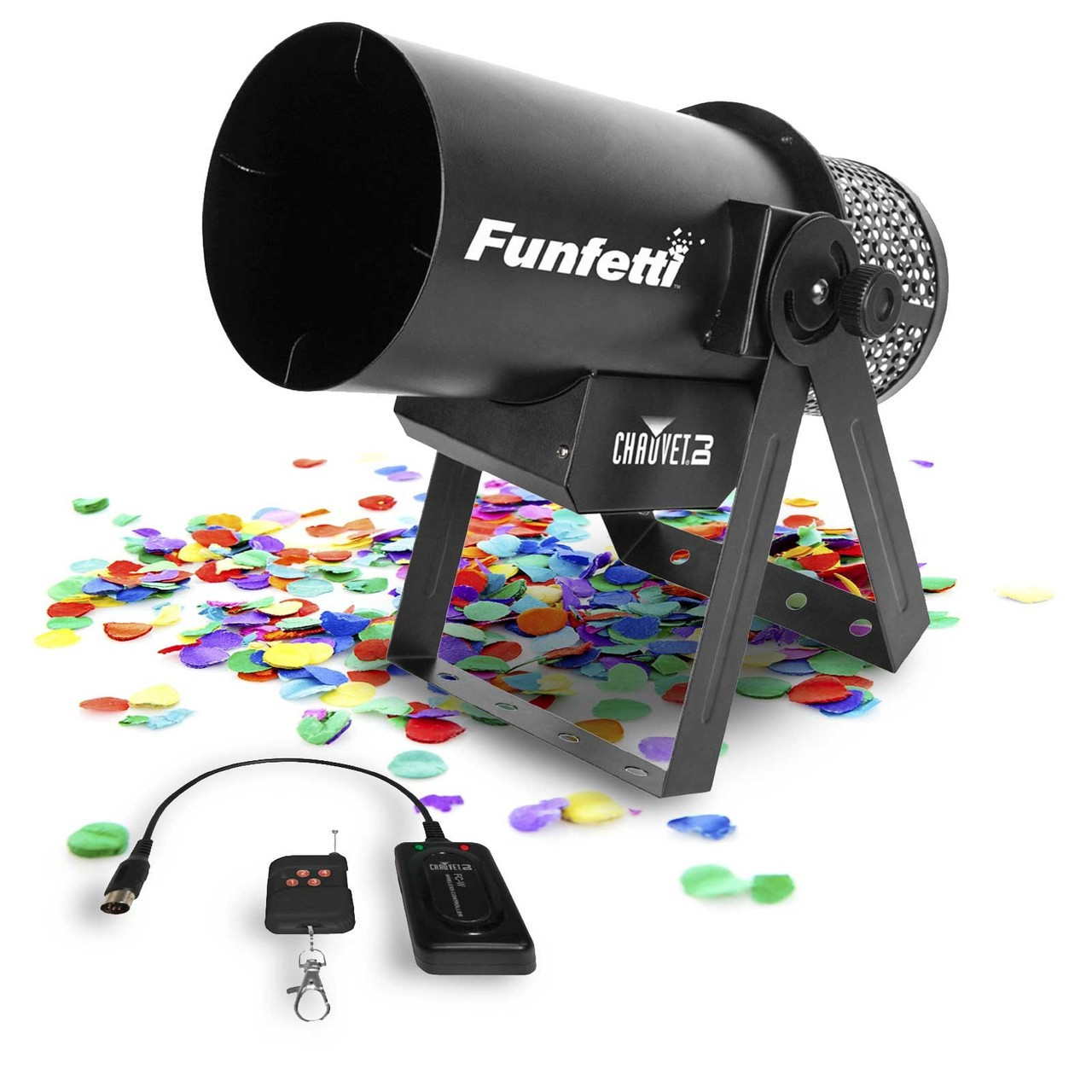 Confetti, Blower, Laucher, machine, Funfetti, Chauvet, DJ, Nightclub