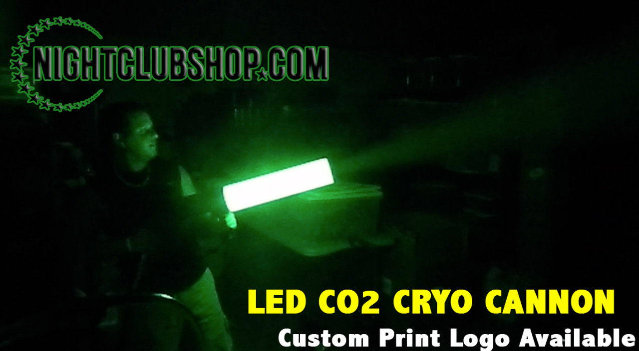 CO2 Gun, CO2 Cannon, CO2 Blast, LED CO2, Party Cannon, Gas Gun, Gas Cannon, CO2 Jet, CO2, Gun, Cannon, Blaster, c02, gas, Special Effect, FX, Nightclub, rave, Electro, Custom, Logo, Personalized, kryogenifex