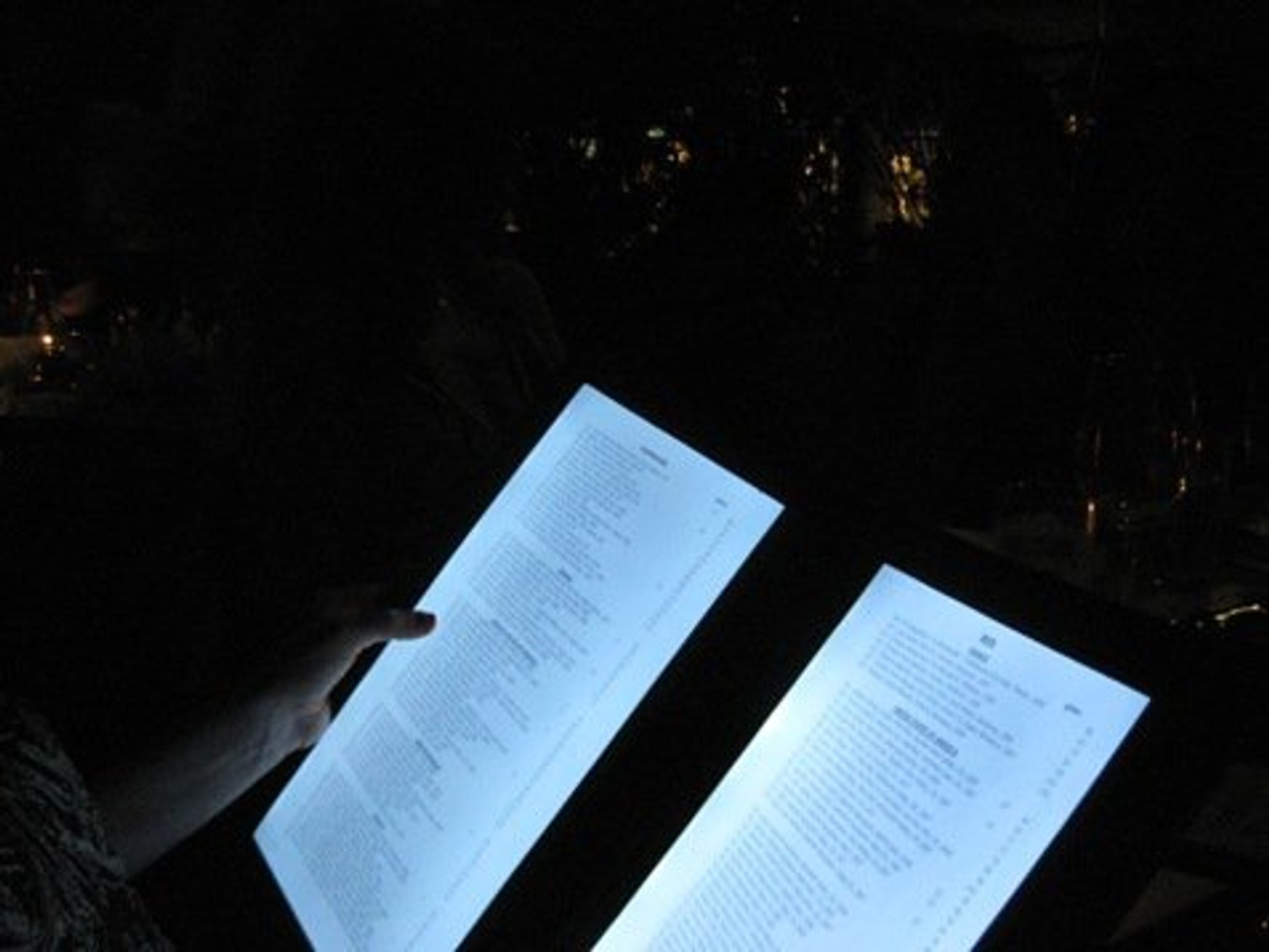 LED BACK LIT MENUS, LED MENUS, GLOW MENU,  back lit menu covers, check presenters, table stands, back lit menus, dine a light, glow in the dark, glowing menus, grandstand, led menus, light up menus, lighted menu, lit check presenters, lit menus