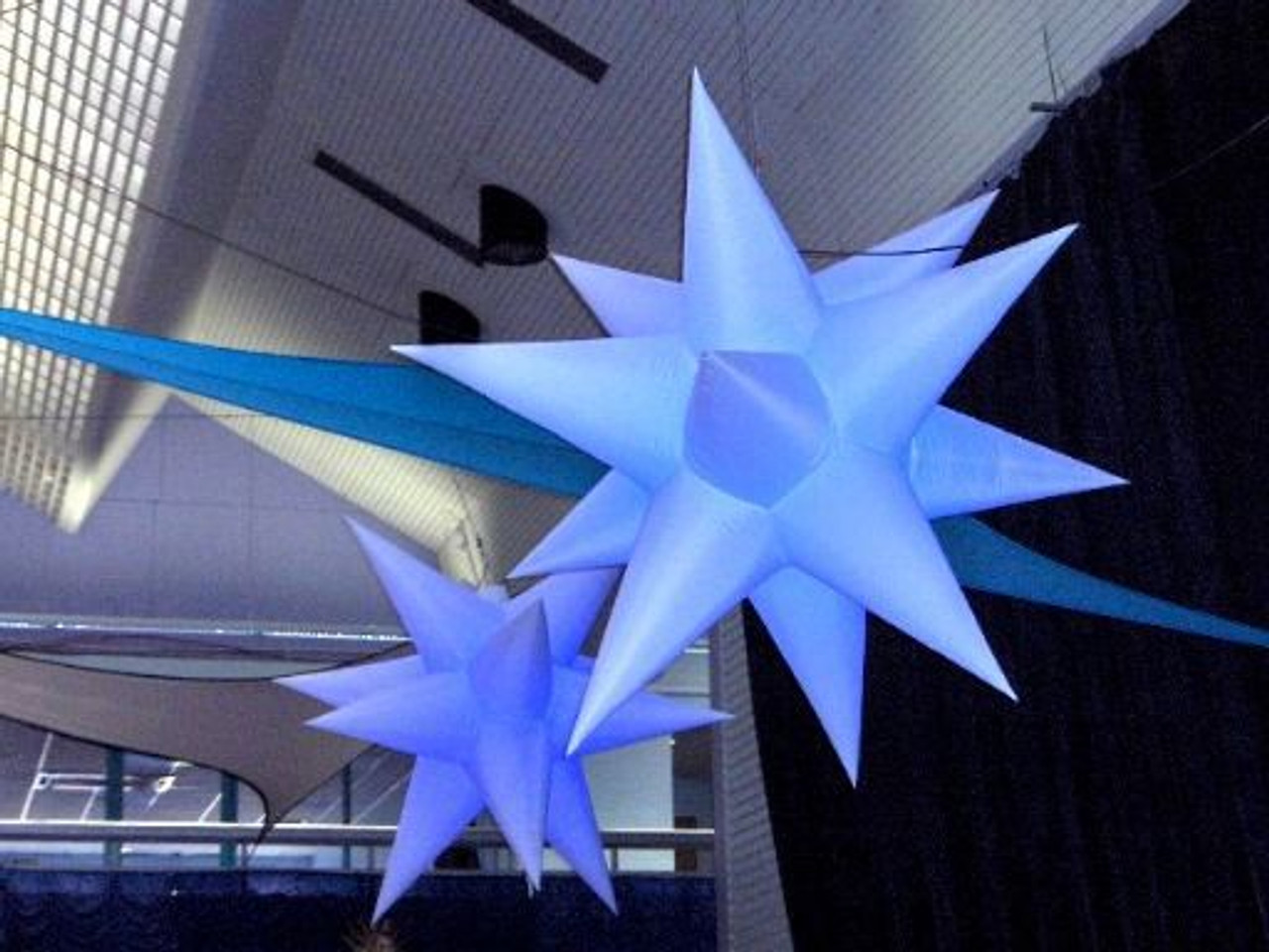 Inflatable star, ceiling, mount, mounted, hanging, color, remote