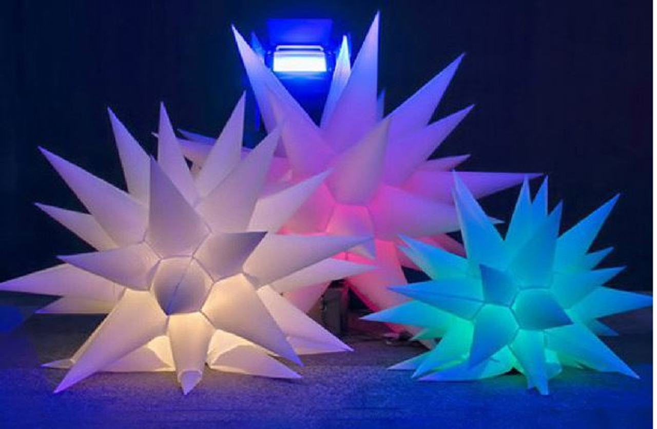 LED, Inflatable, spike, blow up, decor, decoration, star, hanging, moon, hang, ceiling