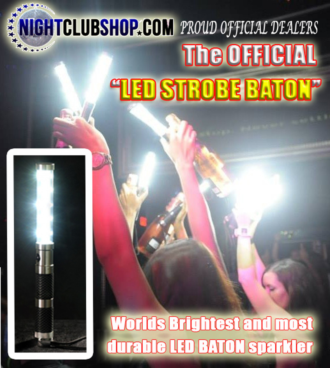 LED STROBE BATON, LED, STROBE, BATON, Electronic, flash, wand,bottle service, bottle delivery, alternative, sparkler, bottle sparkler,Colors