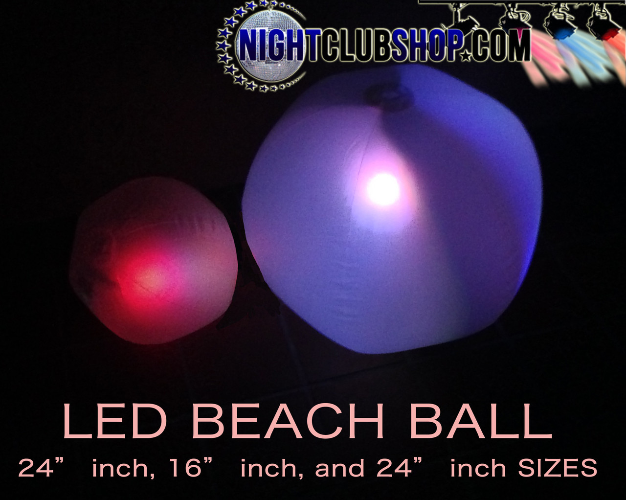 LED BEACH BALL 36 INCH CADILLAC VERSION (LED BEACHBALL)
