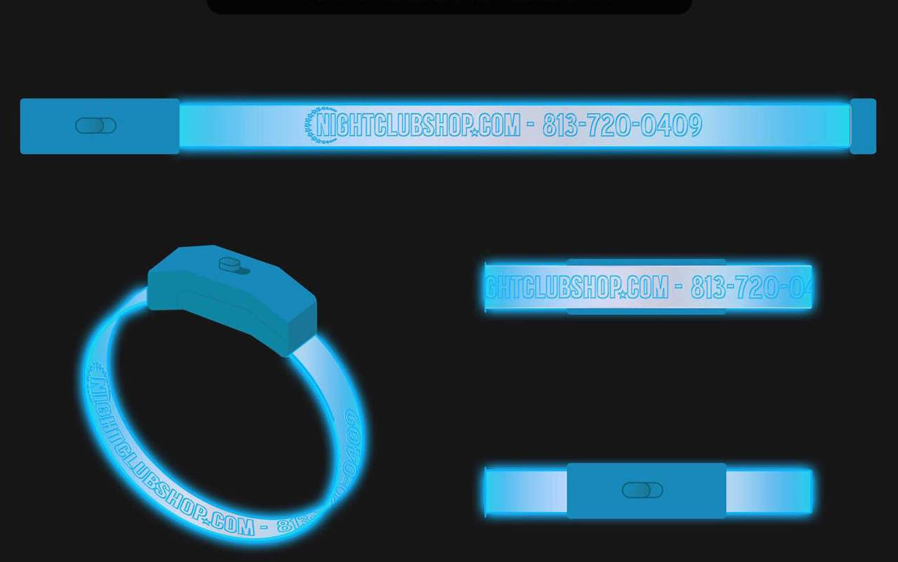 Custom , Printed,LED, Wristband, Engraved, Laser cut, Optical