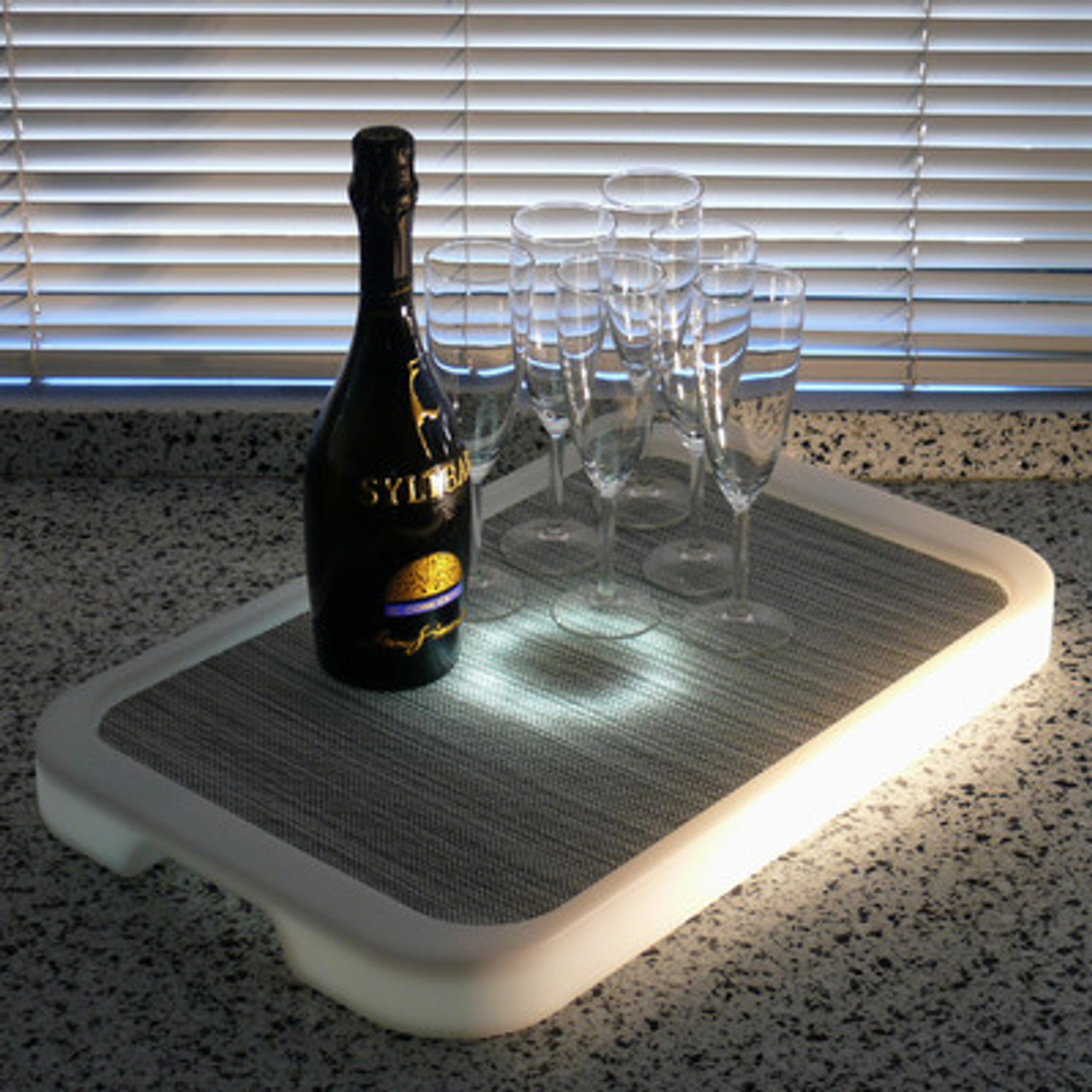 LED, LED Tray, Light up Tray, Serving, Service, Tray,Waterproof, unbreakable, wine,champagne