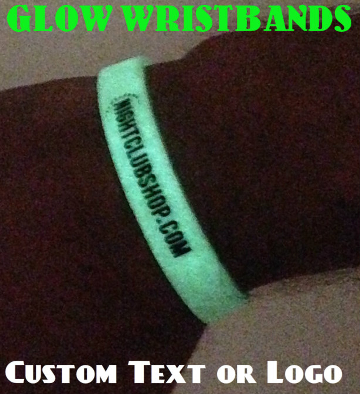 Glow,Wristbands, Text, or, Logo, Custom