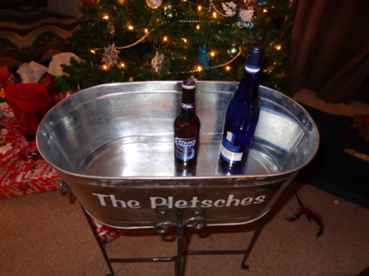 Custom, Personalized, Ice, Beer, Tub, Bucket, Bar, Wedding, Ice-Bucket, Beer Tub, Bar Back,cooler,Beverage, Container