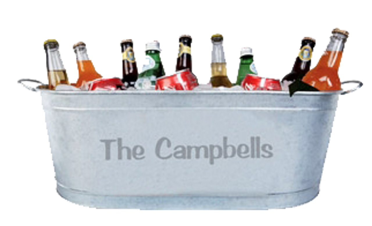 BudTub,Custom, Personalized, Ice, Beer, Tub, Bucket, Bar, Wedding, Ice-Bucket, Beer Tub, Bar Back,Ice-Bucket