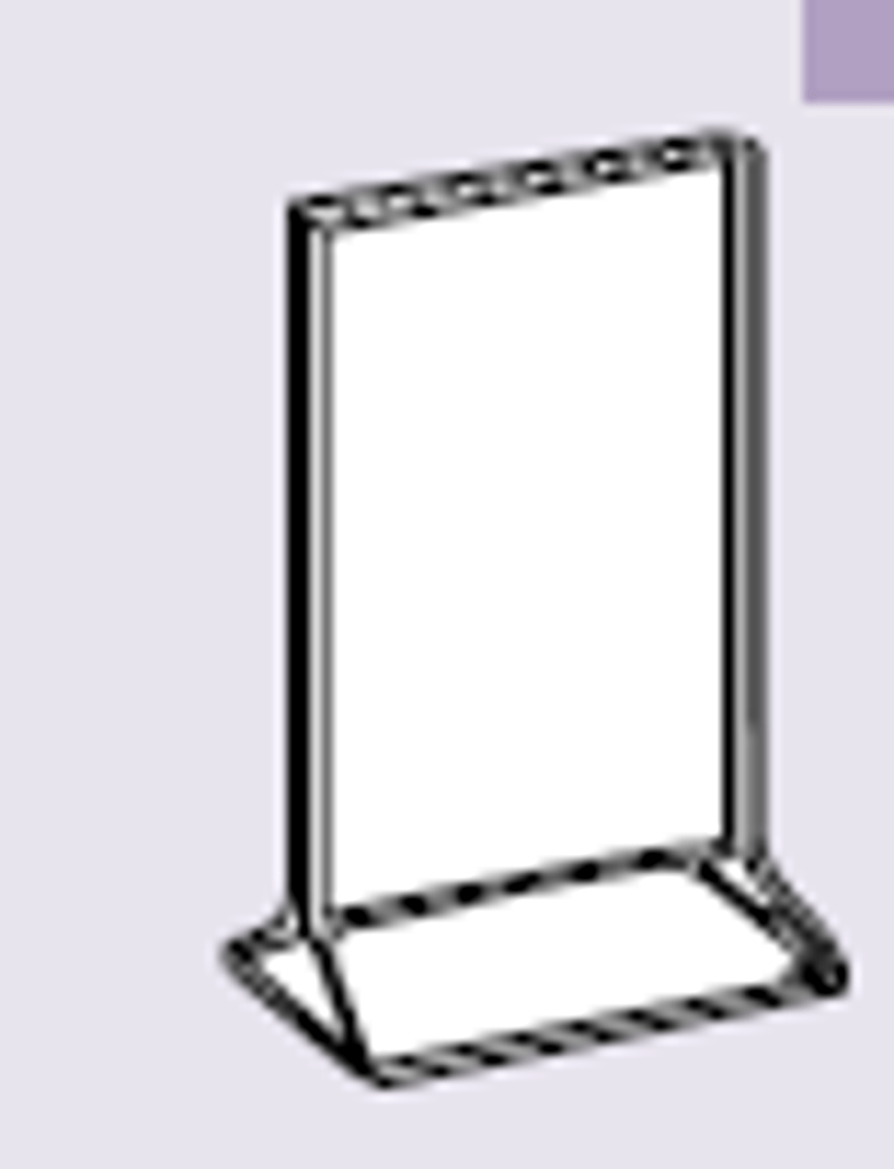 ACRYLIC TABLE STANDS - Table Tent Insert Holder 7 x 5
