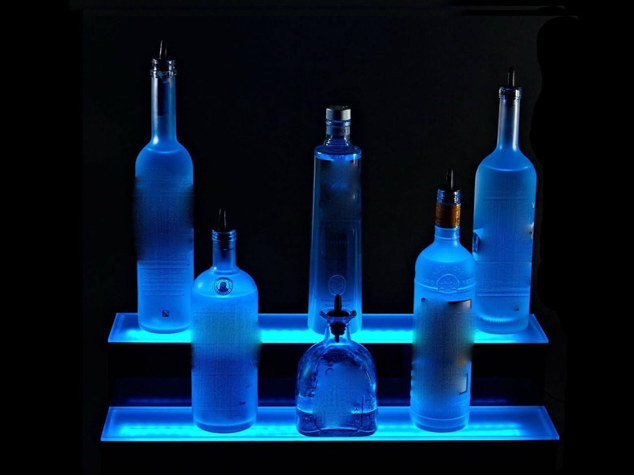 LED SHELVES for Bar Display