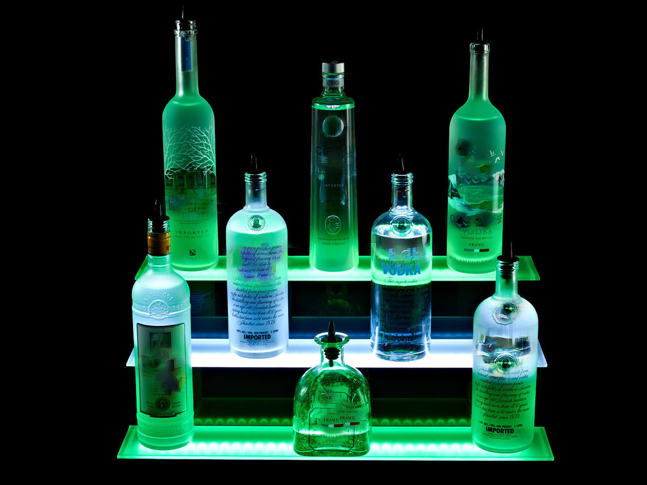 LED SHELVE,remote controlled, multi-color, illuminated, LED, Bar, Shelf, Liquor, Bottle, Light up, Glorifier, Showcase,Bar top
