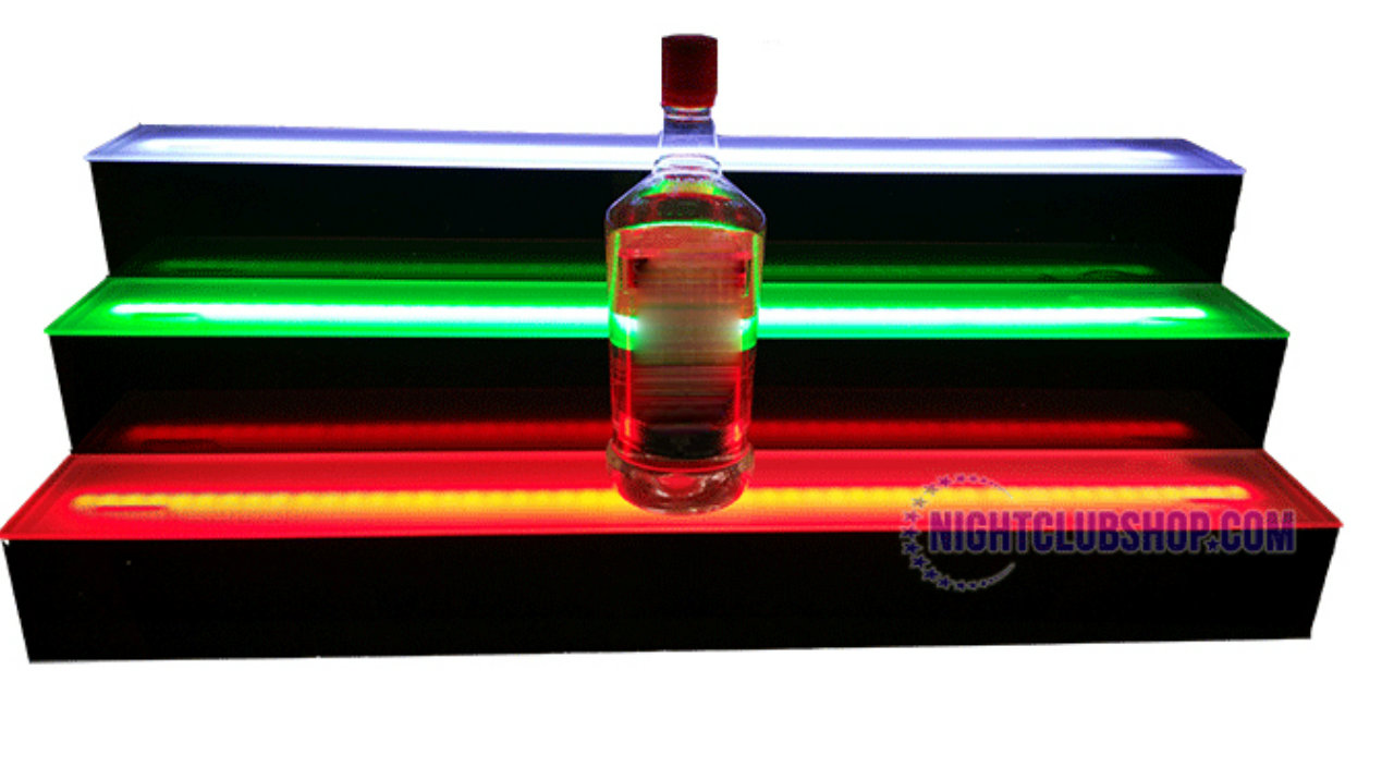 Enjoyable Led Liquor Shelves 4 Tier Interior Design Ideas Lukepblogthenellocom