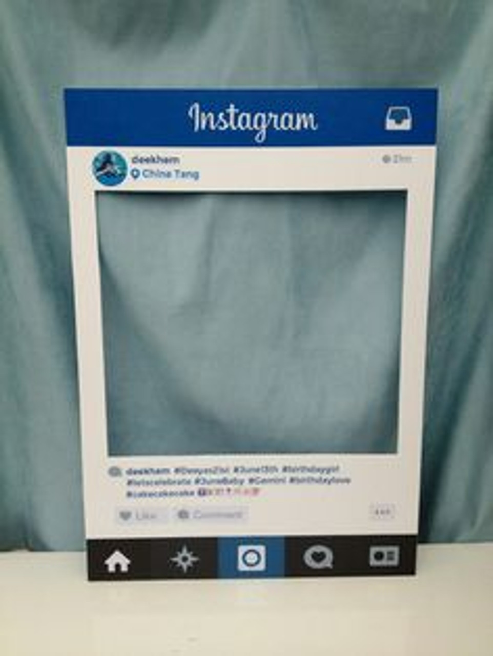 Prop, pictures, instagram, facebook,cut out ,frame ,Board, Nightclubs, Events, Weddings,Large,custom, personalized