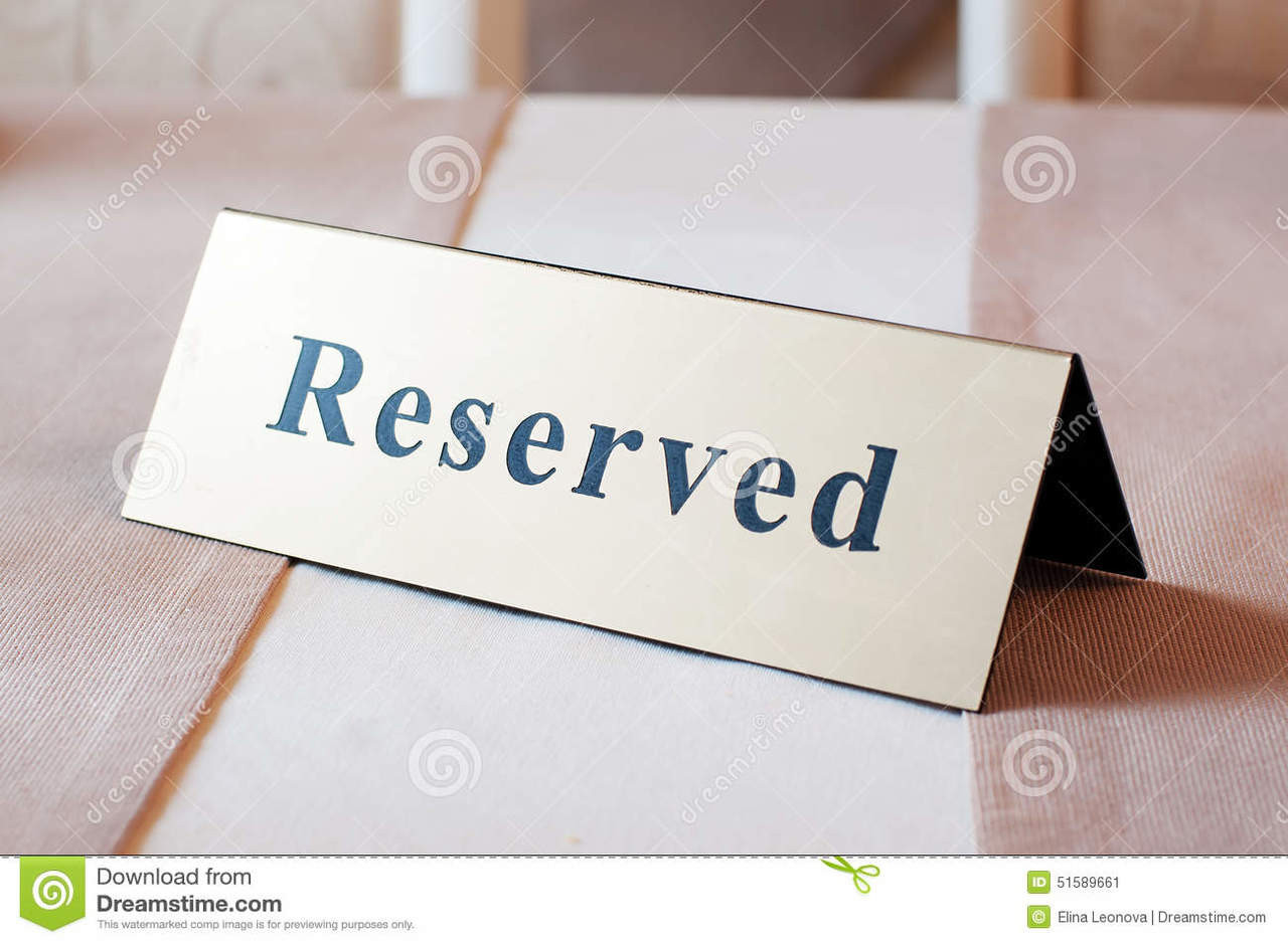 Sign, table sign, VIP, Reserved, Sign, Reserved sign, Reservado, Table, Place holder, Stainless steel