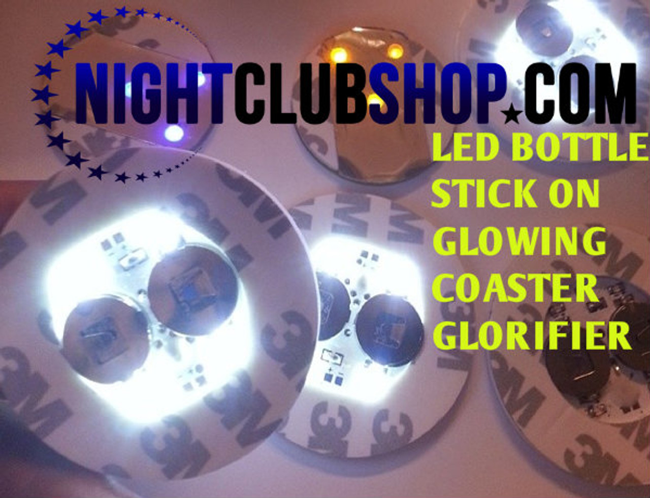 LED, Stick on, waterproof, Coaster, LED COASTER, Bottle Glow, Glorifier,Belvedere, Doit, yourself, make, my own, how do I, Bottle, Glow,