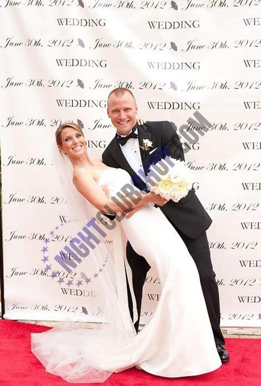 8' X 10' STEP & REPEAT BACK DROP NO GLARE MATTE WEDDINGS