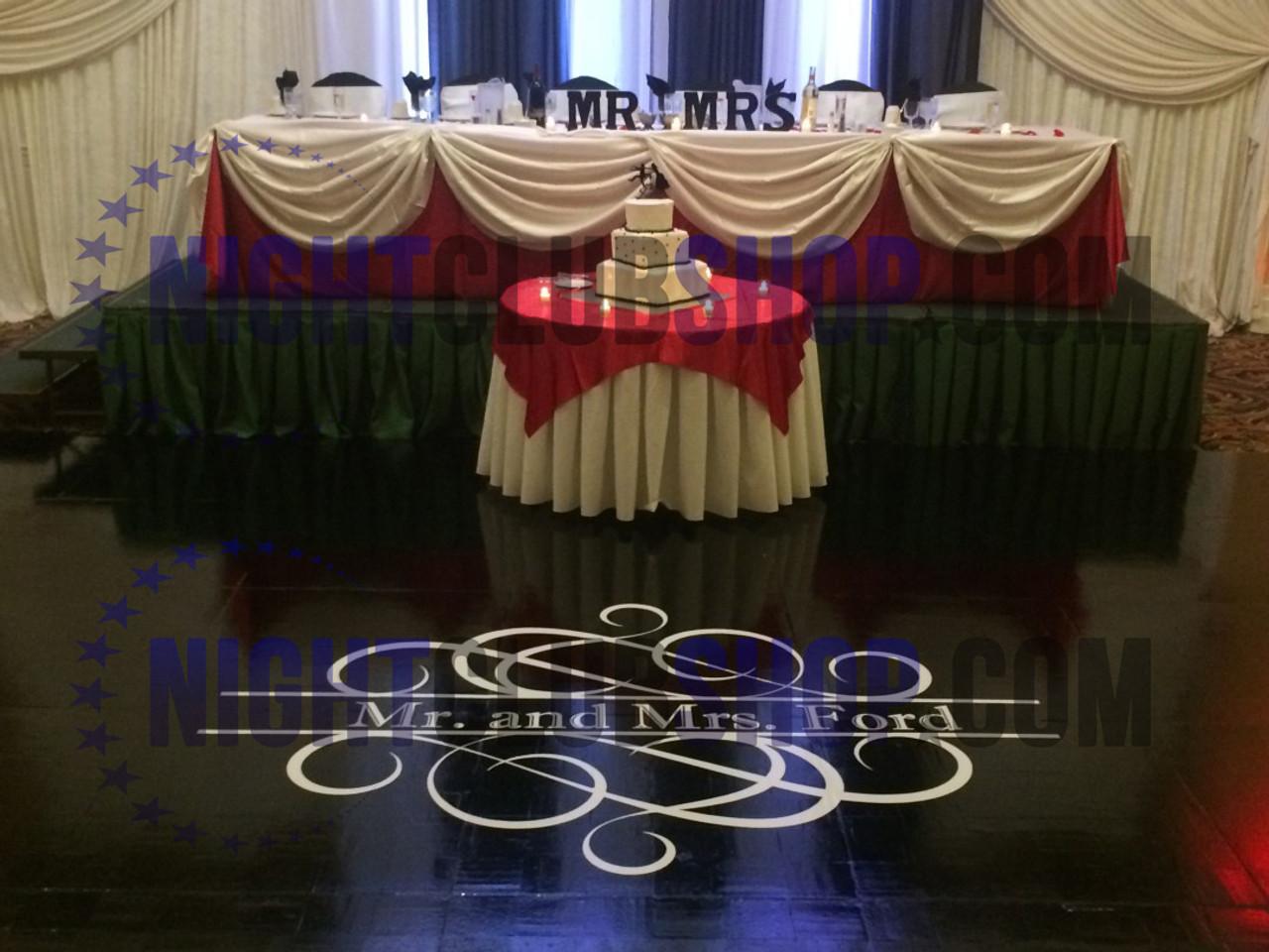 CUSTOM DANCE FLOOR VINYL DECAL DECOR WEDDING RECT