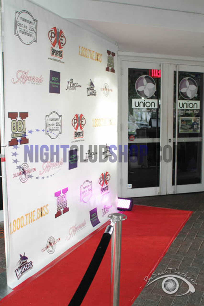 8' X 8' STEP & REPEAT BACK DROP NO GLARE MATTE BIRTHDAY SWEET 16