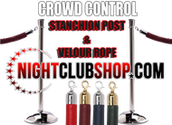 Queue Solutions - Stanchion Posts and Crowd Control Red Carpet VIP Line Velour Rope