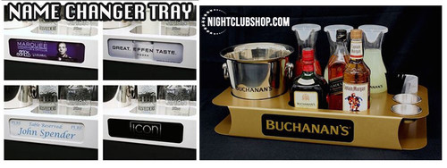 Name changer,Mini,Letter box, VIP, name,Logo,Event,Birthday, Changeable, face, Plate,Front, Bottle, service, delivery, tray, caddie, caddy,Nightclubshop