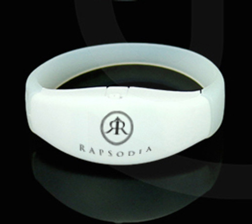 RF Remote Control LED Wristband Bracelet - CUSTOM LOGO IMPRINT