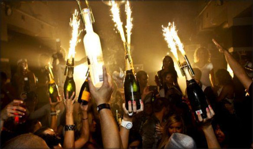 champagne, bottle,sparkler