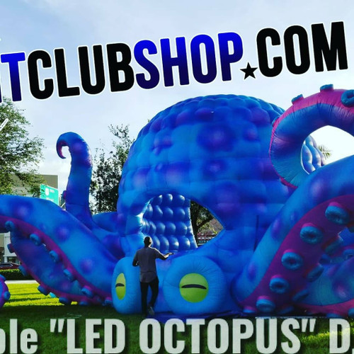 Octopus_DJ_Booth_LED_inflatable_Special_events_Beach_Pool_Party_parties_mobile Dj_Cabin_DJBooth,party pus