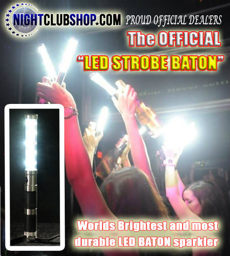 LED STROBE BATON, LED, STROBE, BATON, Electronic, flash, wand,bottle service, bottle delivery, alternative, sparkler, bottle sparkler