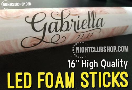 Holiday, custom, glowstick, glow,LED, foam, stick , color, personalize, print