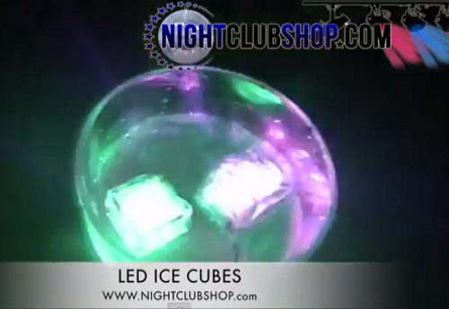 LED ICE CUBE, GLOW ICE, Illuminated Ice, Ice
