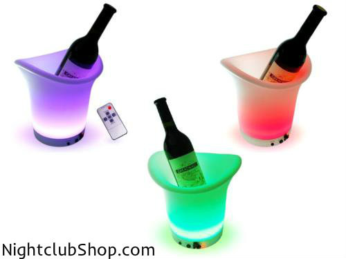 LED, ice, bucket, bottle, remote, lights, liquor, champagne, club, rave, bar, lounge, container, glow, vip, wedding, favor