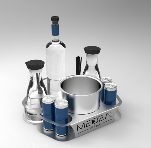 Energy_2_Bottle_service_delivery_tray_caddie_