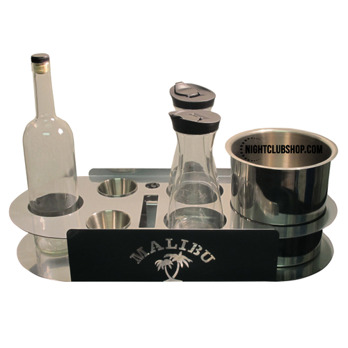 Custom, Logo, VIP, champagne, bottle, Service, tray, serving, branded,