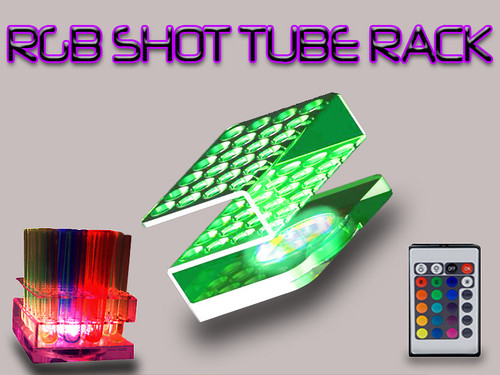 LIGHT UP RACK, Test tube rack, tray, shooter, led,