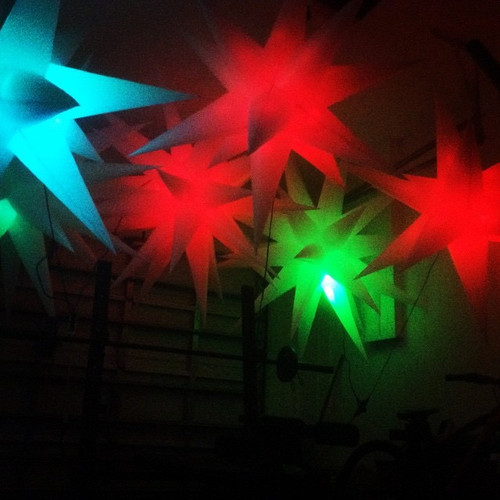 LED, glow,light up,Star, hanging, lamp,light,prop,decoration,large,big, six,6, foot remote