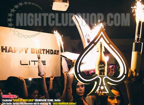Ace, Spadilla, Huge, LED, Bottle, Service, Liquor, Holder, NEW, Custom, Spades,