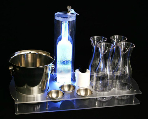 bottle, serving, service, tray, premium, glorified, caddie, bottle service, club, nightclub, lounge, deluxe, durable, high quality, heavy duty, supplies, bar