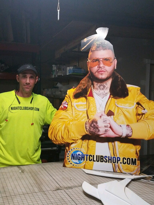 4 foot, Printed, Foamcore, Big head,Life size, Cut out,Farruko, Sign, Miami, Florida, Club, nightclub, supply, supplier, shop, Nightclubshop