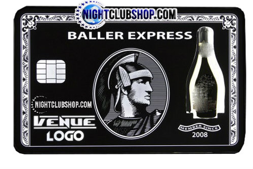 VIP BLACK CARD BOTTLE EXPRESS PRESENTER  750 mL