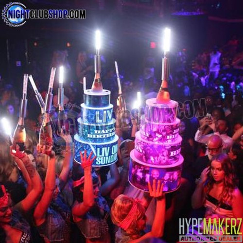 Happy, Birthday, Celebration, Cake, LED, RGB, Remote, Controlled, Bottle, Service, Delivery, RF, Nightclub, Nightlife, Nightclubshop, Club, Bar, Casino, Hotel