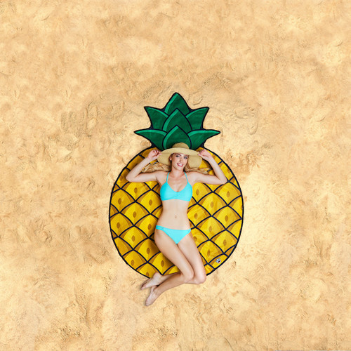 giant-gigantic-pineapple-beach-blanket-pool-party-supplies-nightclub-shop-outdoors