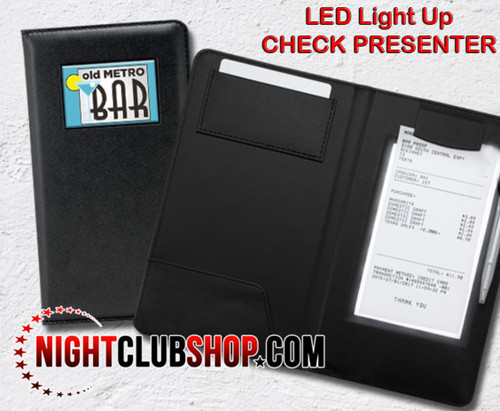 10 Pack,10 units, Wholesale,Bulk, Custom, Print, LED Check Presenter, Billfold, LED MENU