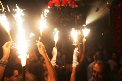 champagne, bottle sparkler