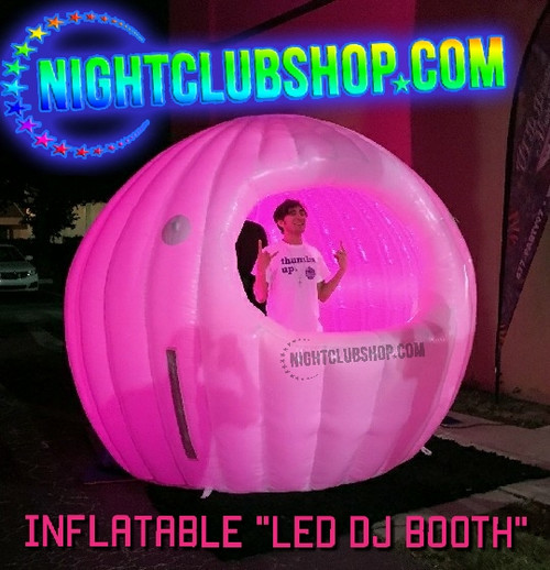 10 Foot, LED, DJ Booth, Inflatable, Pop Up, Mobile, Portable, RGB, Multi-color, cabin, Special effect, SFX, Nightclubshop