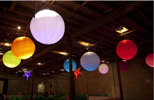 LED, inflatable, sphere, ball, fan, blow up, pop up, Hanging, ceiling, decoration, decorative,