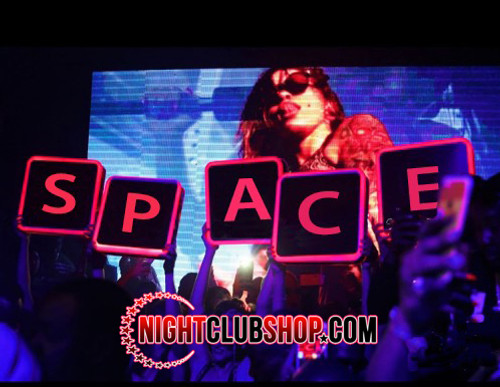VIP_LETTER_BOX_Nightclub_LED_Sign_Bottle service_Presenter_name_changer_Light box