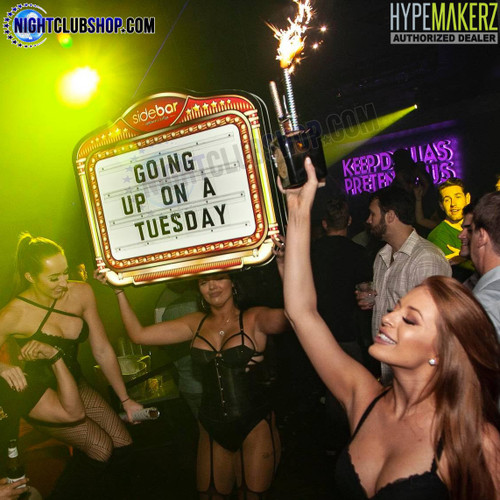 Custom, Made, LED, Marquee, Lightbox, Interchangeable, Celebration, Board, Customizable, Nightclubshop, Club, Bar, Lounge, Casino