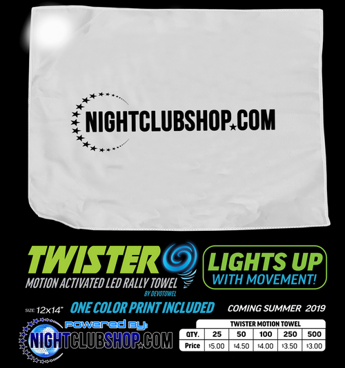 Champagne, presentation, light up, custom, Cloth, brand, promo, towel, rag, napkin, logo, bottle, service